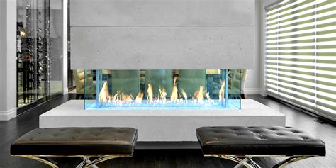 The DaVinci Collection Island Linear Gas Fireplace
