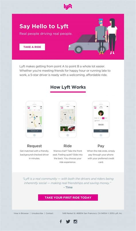 Top 12 email design inspirations from Shared Economy space