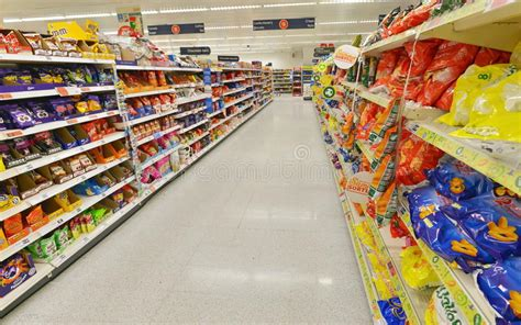 Supermarket Aisle View editorial image