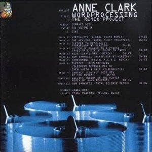 Anne Clark: Wordprocessing (The Remix Project) - CD (1997