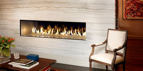 The DaVinci Collection Single-Sided Linear Gas Fireplace