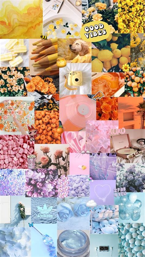 multicolor aesthetic background - Backgrounds