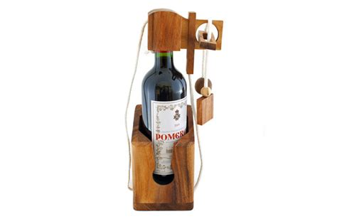 Dont Break the Bottle Patience Game Puzzle Wooden Gift for