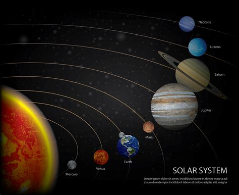 Solar System of our Planets Vector Illustration - Download