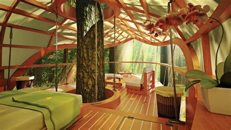 Resort's Guest Rooms Are Suspended in Trees   Multifamily