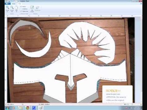 spartan helmet template!!!!!!!!! and how to make it - YouTube