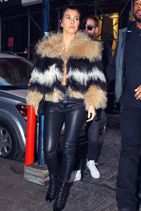 Kourtney Kardashian out and about in - Leather Celebrities
