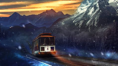 Train Journey Mountains Wallpapers   HD Wallpapers   ID #16176