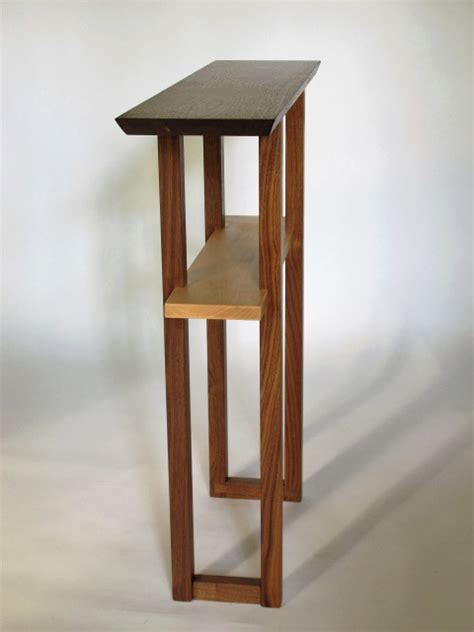 Narrow Entry Table- wood console for hallway or small
