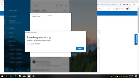 0x8000000b error when setting up email account by Window