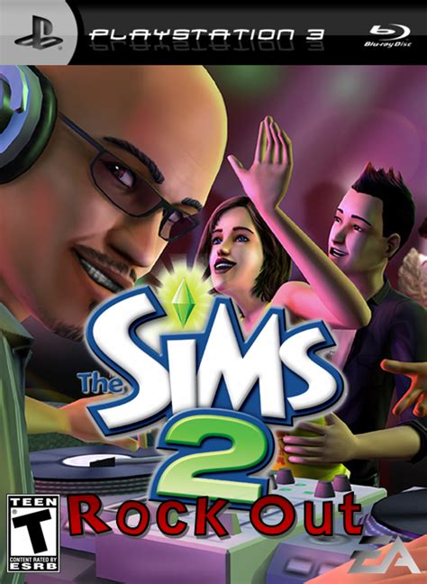 The Sims 2: Rock Out PlayStation 3 Box Art Cover by