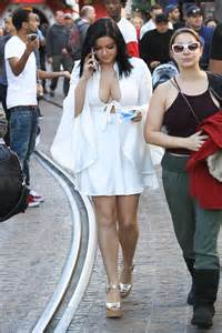 Ariel Winter in White Short Dress at The Grove in Los